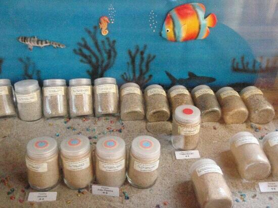 mostruário de areia, museu de pesca, Santos, SP