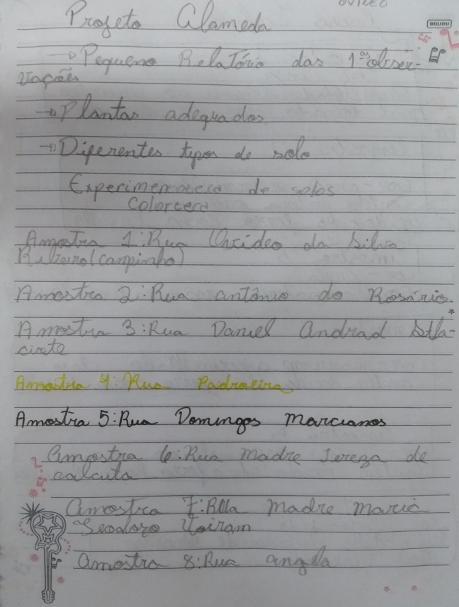 projeto alameda amostra de solos. Ensino de Ciências, anos iniciais, ensino fundamental. Estudo do Solo. Projetos Pedagógicos.
